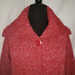 Style & Co 1X swing sparkly sweater high collar
